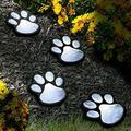 4 Solar Paw Print Lights Dog Path LED Cute Lawn Garden Patio Yard Decor Walkway-Solar Lights Garden Outdoor-Outdoor Garden Solar Lights-Path Lights Solar Powered-Patio Solar Lights Outdoor
