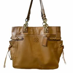 Coach Bags   Coach Colette North South Tote Tan Leather Bag   Color: Tan   Size: Os
