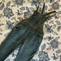 Free People Jeans | Free People Skinny Washed Denim Overalls | Color: Blue/Green | Size: 27