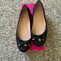 Kate Spade Shoes | Kate Spade Willa Glitter Ballet Flats | Color: Black | Size: 8.5