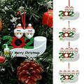 Family 2020 Christmas Ornament Xmas Tree Hanging Pendant Family DIY Name Blessings Snowman Santa Xmas Family Gift Quarantine Family Personalized Name Ornament for Santa Tree Party Holiday Decoration
