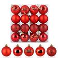 Zogin 32Ct Christmas Ball Ornaments,1.57'' Shatterproof Christmas Tree Decoration Ball Ornament Set Seasonal Decorations Set For Holiday Wedding Party Xmas Decoration (40Mm,Red)