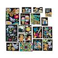 Color Your Own Fuzzy Poster Assortment - Craft Kits - 24 Pieces