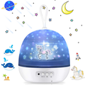 AUPERTO Night Light Projector,4 In 1 Ocean Wave Lamp and Starry Sky Projector, Light Rotation and Light Mode Starry Sky Projector WHITE