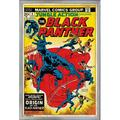 """Trends International Marvel Comics - Black Panther - Jungle Action Cover Wall Poster 22.375"""" x 34"""" Silver Framed Version"""