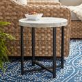 """Better Homes & Gardens Faux Marble Round Side Table, 18.5"""" H"""
