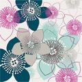 Boho Floral Collection II Poster Print by Nicole Ketchum (13 x 19)