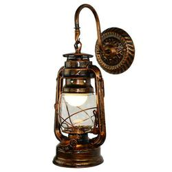 Atralife Old Fashion Retro Barn Lantern Wall Lamp Hotel Corridor Aisle Light Engineering Wall Lamp Wall Sconce in Industrial Style Vintage Style and European Style with Antique Glass 3 Types Optional