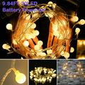 LED Globe String Lights Christmas Lights, 9.84FT 20LED Battery Powered Fairy Lights String Lights, Waterproof Hanging Fairy Lights Perfect for Indoor Outdoor Wedding Christmas Party, Q7226