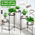 5 Tier Elegant Adjustable Metal Plant Stand ,Flower Pot Holder Planter Display Shelving Garden Home Corner Indoor Outdoor Decor,3 Colors