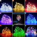Basstop 1PCS Holiday Led christmas lights outdoor 50/100/200 LEDs string lights decoration for party holiday wedding Garland(Multicolor/20M)