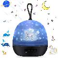 Starry Sky Projector, Night Light Lamp 4 In 1 LED Star Projector Light and Ocean Wave Projector Lamp, Night Light for Kids Bedroom Decoration BLACK