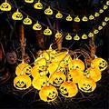 Halloween String Lights - Pumpkin Lanterns Decorative Jack-O-Lantern Wire Lights for Patio Garden Gate Yard for Halloween Christmas Decoration - 5.2ft 10 LEDs