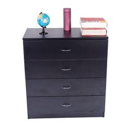 4-Drawer Lateral File Cabinet, Heavy Duty Wooden Filing Cabinet, MDF Board File Cabinet with Handles, Home Office Lateral File Cabinet with 4 Drawers, Multifunctional Storage Furniture, Black, Y1163