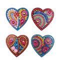 Winnereco 4pcs DIY Full Drill Special Shaped Heart Diamond Painting Fridge Magnet