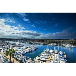 Marina Del Rey Boats Clouds Sky Water Marina-20 Inch By 30 Inch Laminated Poster With Bright Colors And Vivid Imagery-Fits Perfectly In Many Attractive Frames