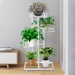 4/5/7-Tier Metal Plant Stand Flower Planter Pot Holder Shelf European Flower Stand Flower Rack Style Stable Structure Can Hold 6-9 Planters Pots for Home Indoor Outdoor Decor