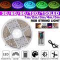 3.3ft - 16.4ft LED Strip Lights RGB LED Light Strips for Bedroom LED Color Changing Strip Lights with 44 Keys Remote 30 - 150 LEDs SMD 5050 LED Tape Lights for Room Ceiling Kitchen Party