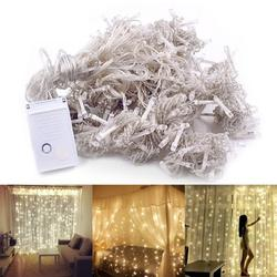 ROBOT-GXG LED String Lights - LED Window Curtain String Light - String Lights for Bedroom - 300-LED Warm White String Lights Christmas Lights Fairy Lights for Wedding Party Christmas Decoration