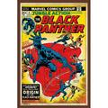 """Trends International Marvel Comics - Black Panther - Jungle Action Cover Wall Poster 22.375"""" x 34"""" Mahogany Framed Version"""