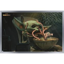 "Trends International Star Wars: The Mandalorian Season 2 - Tentacles Wall Poster 24.25"" x 35.75"" x .75"" Silver Framed Version"