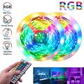 US-STOCK 32.8 Feet LED Strip Lights,44 Keys IR Remote Controller Flexible DIY Color Changing LED Lights Supported 12V Power Supply,150 LEDs for Bedroom Home Kitchen Party Christmas