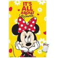"""Trends International Disney Minnie Mouse - Classic Wall Poster 14.725"""" x 22.375"""" Premium Poster & Mount Bundle"""