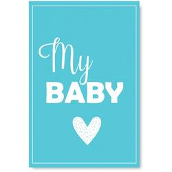 Awkward Styles My Baby Poster Wall Art Kids Room Wall Decor Blue Poster Baby Room Decor Gifts for Kids Baby Boys Room Printed Art Picture Newborn Baby Room Poster Wall Decor Mother Quotes Poster Art