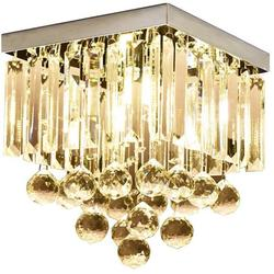 KU300114 Modern Simple Ceiling Lamp Square Crystal Lamp Creative Lighting Corridor Lamp Aisle Lights,1 Light
