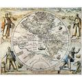 Western Hemisphere 1596. Ntheodore De Bry'S Map Of The Western Hemisphere 1596 Surrounded By The Explorers (Clockwise