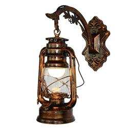Old Fashion Retro Barn Lantern Wall Lamp Hotel Corridor Aisle Light Engineering Wall Lamp Wall Sconce in Industrial Style Vintage Style and European Style with Antique Glass 3 Types Optional