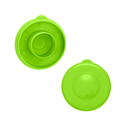 Brio Dew Cap Crown Top Replacement Cap - 4 Pack - 55mm Snap On Cap for Crown Top Lids for 3 & 5 Gallon Water Bottles (Light Green)