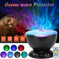 TSV Ocean Wave Projector, Night Light Lamp with Remote Control, Timer, 7 Lighting Modes, Built-in Mini Music Player, LED Night Light Projector Lamp for Baby Kids Adult Bedroom Living Room Decoration
