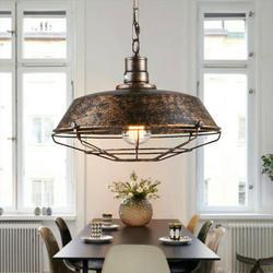 Willstar Pendant Lamp Vintage Hanging Lamp Retro Pendant Lamp Vintage Hanging Lamp Industrial E27 Metal Retro Industrial Lamp