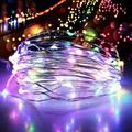 Norbi LED Light String USB Remote Control Copper Wire Birthday Party Warm White Four colors Lighting Garden Decor