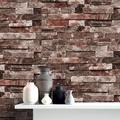 Large Waterproof Removable 3D Vintage Embossed Stone Brick Effect Vinyl Wallpaper Roll for Bedroom Living Room TV Background Home Decor Restaurant,Self Adhesive