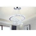 Indoor Ceiling Lighting,LED 3 Rings Crystal Chandelier Nordic Modern and Simple Creative Pendant Lamp Living Room Lamp Dimmable with Remote Control Three Rings Beads Pendant Light