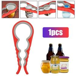 TSV 4 in 1 Jar Opener, Can Opener Bottle Opener, Kitchen Grip Jar Opener, Multi Function Rubber Can Opener, Twist Off Lid Easy Kitchen Gadgets For Weak Hands or Senior