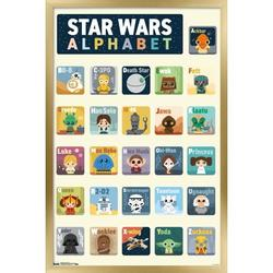 "Trends International Star Wars: Saga - Alphabet Wall Poster 16.5"" x 24.25"" x .75"" Gold Framed Version"