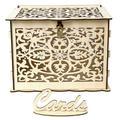 SUPERHOMUSE 1PC Wooden Wedding Card Box Business Card Box Decoration Custom Sign In Wedding Party Invitation Card Box Wedding Supplies