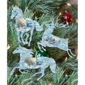 G.DeBrekht 8100041S3 Christmas Horse & Deer Wooden Ornaments - Set of 3