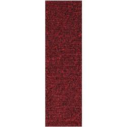 Commercial Indoor/Outdoor Red Custom Size Runner 2' x 4' - Area Rug with Rubber Marine Backing for Patio, Porch, Deck, Boat, Basement or Garage with Premium Bound Polyester Edges