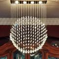 Modern Raindrop Chandelier Crystals Ceiling Light Romantic Contemporary Chandelier Lighting Indoor Flush Mount Ceiling Light Fixture Ceiling Lamp for Dining Living Room Kitchen L23.6''xW6''xH27.5'