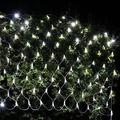 Battery Powered Net Lights,4.9ft x 4.9ft 100 LED Net Mesh Tree-wrap Lights Decorative Fairy Lights String for Holiday Christmas Halloween Mother Day Garden Backyard - [Remote,8 Mode,Timer] (White)