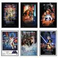 "Star Wars: Episode I, II, III IV, V & VI - Framed 6 Piece Movie Poster / Print Set (Regular Styles 1) (Size: 24"" x 36"" each)"