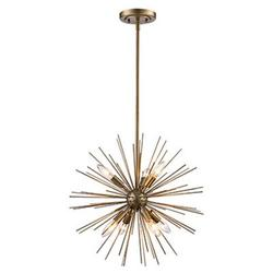 "Trans Globe Lighting Mdn-1451 Collina 7 Light 19-3/4"" Wide Taper Candle Globe Chandelier -"