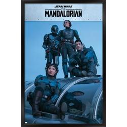"Trends International Star Wars: The Mandalorian Season 2 - Mandalorian Group Wall Poster 24.25"" x 35.75"" x .75"" Black Framed Version"