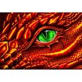 Winnereco 5D DIY Full Drill Diamond Painting Dragon Eye Cross Stitch Embroidery Gift