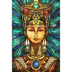 Chinatera 5D Full Round Drill Rhinestone DIY Ancient Girl Diamond Painting Poster Kit