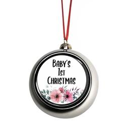 New Baby First Year Ornament Babys First Christmas Xmas Ornament - Baby 1st Xmas Ornament - Baby 1st Christmas Ornament Christmas Décor Silver Ball Ornaments